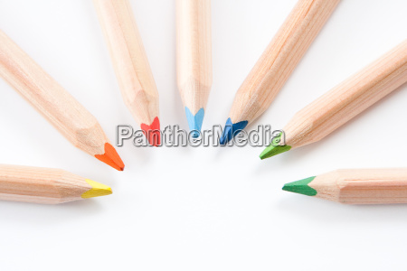 arte colorido materiais de escritorio cor