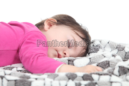 baby sleeping on a blanket