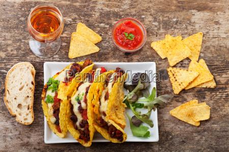taco with chili con carne