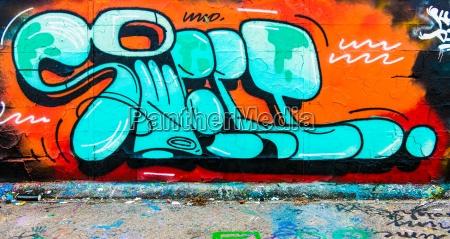 cor concreto letras grafite bege pintura