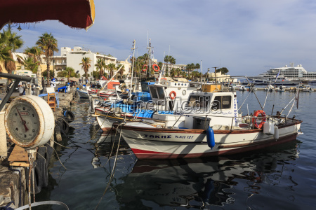 fishing boats and cruise ship harbour
