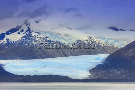 glacier in the darwin mountain range