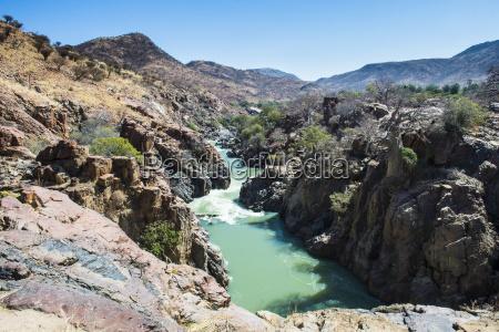 epupa falls on the kunene river