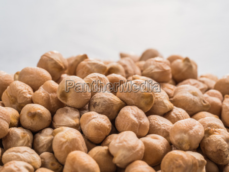 raw chickpea close up