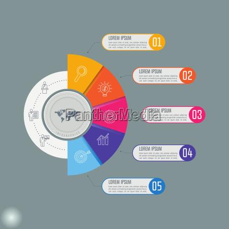 conceito criativo para infografia vetor de